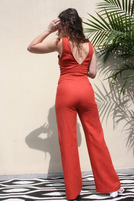 PALOMA WOOL Alana Jumpsuit - Light Caoba Terracotta