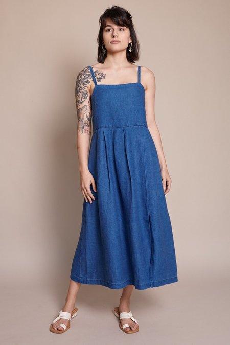 First Rite Pleated Dress - Indigo