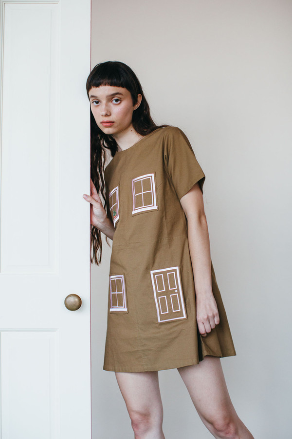 Samantha Pleet House Dress - Brown