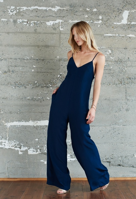 Kamperett Ride Silk Jumpsuit | Navy