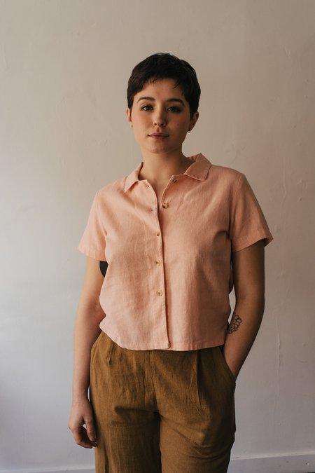 Me & Arrow Button Down Shirt - Cherry Blossom
