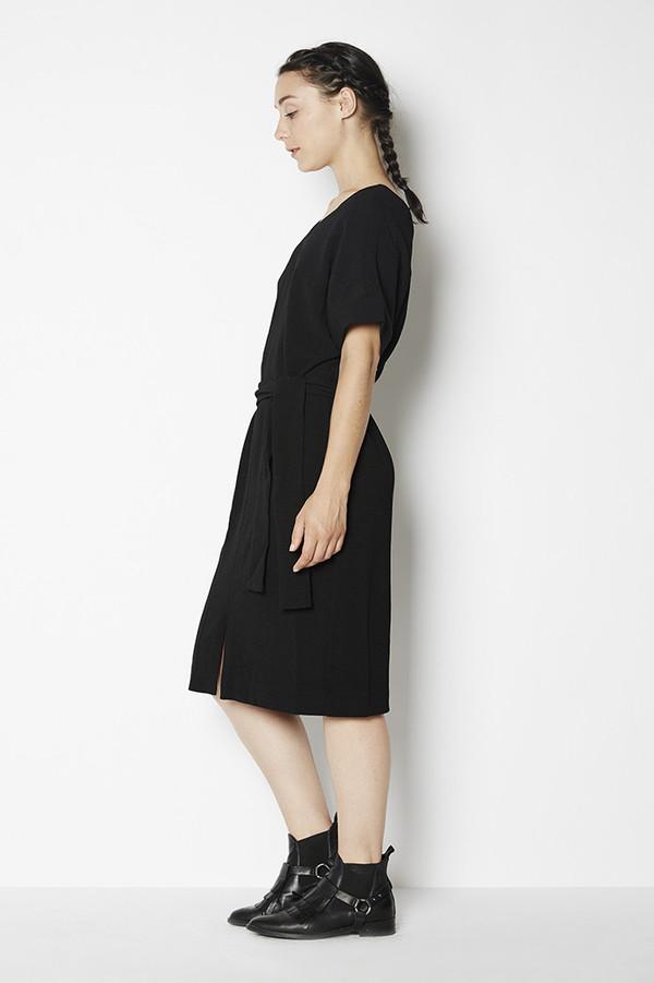 Achro Belted Front Slit Dress
