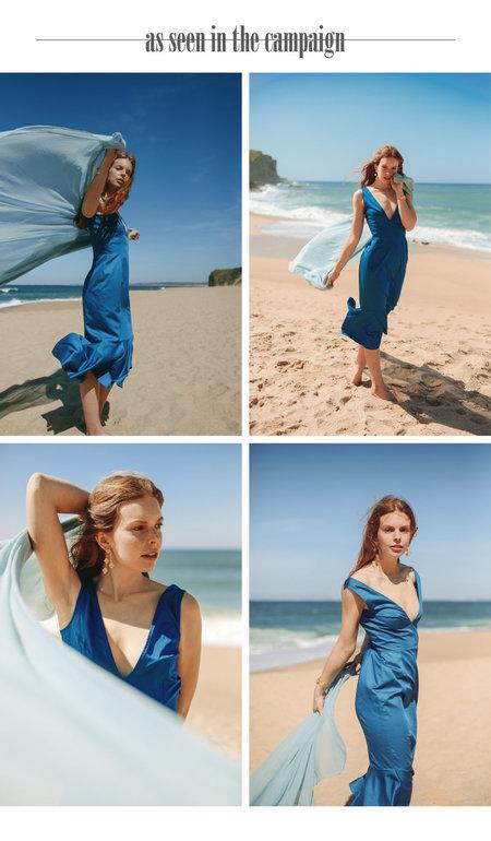 SIZ BUSHY DRESS - Petrol Blue