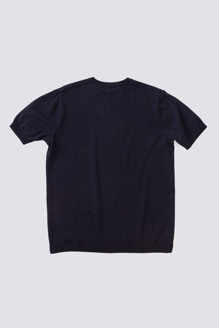 FUJITO C/N Knit T-Shirt - Navy