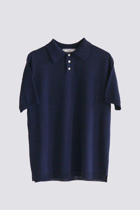 FUJITO Knit Polo Shirt - Navy