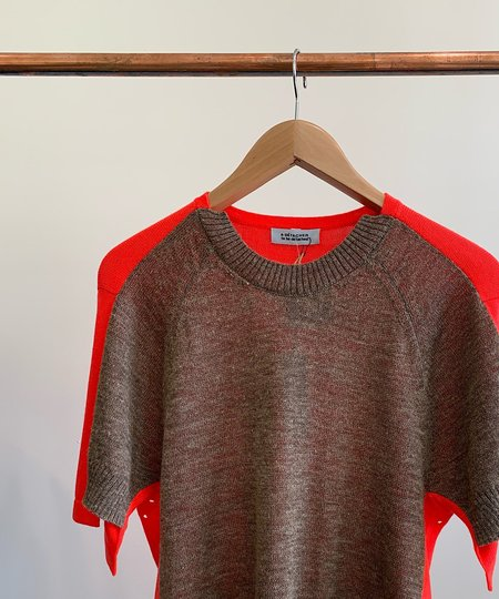 A Détacher Kirk Pullover - Taupe/Red
