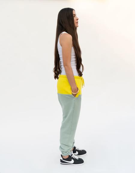 Rachel Comey Tremble Sweatpant - Citron/Seagreen