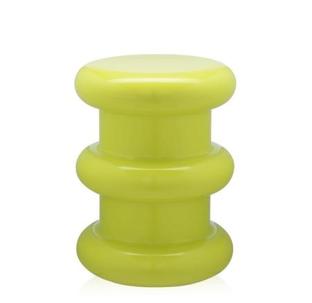 Kartell Pilastro Stool/Side Table - Neon Green