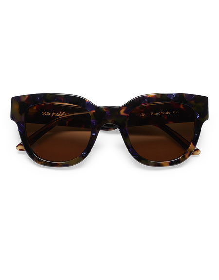 Sun Buddies Liv Sunglasses - Purple Blonde Tortoise