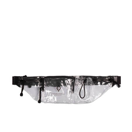 Off-White Cross Fanny Pack - Transparent