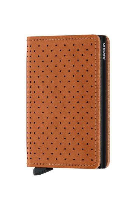 Secrid Slim Wallet - Perforated Cognac