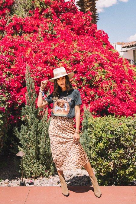 Free People Normani Bias Skirt - Cheetah