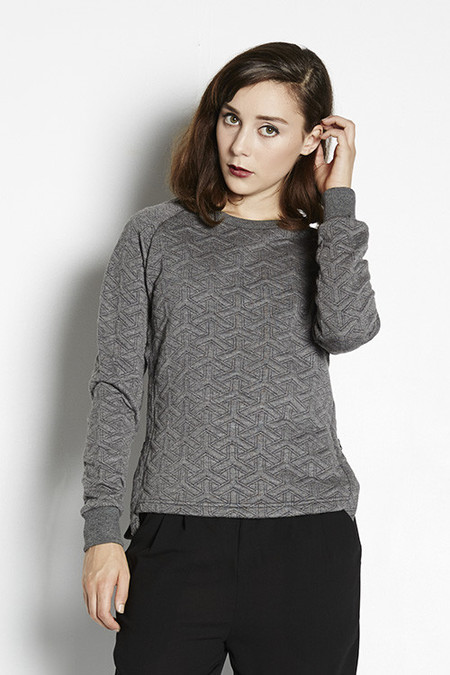 Shades of Grey Quilted Sweatshirt