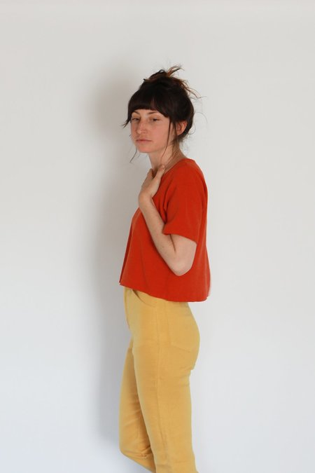 Me & Arrow U NECK TEE - CAYENNE RED