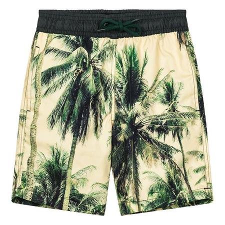 KIDS Finger In The Nose Goodboy Swim Shorts - Vintage Palm Print Yellow