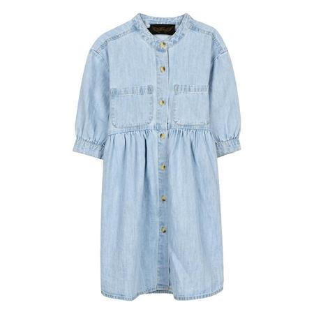 KIDS Finger In The Nose Swing Short Sleeved Dress - Bleached Blue
