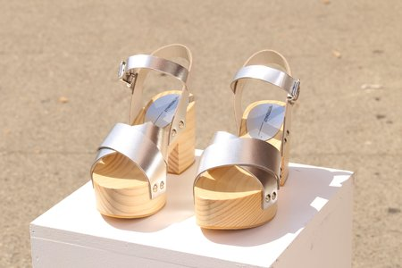 """""""INTENTIONALLY __________."""" Twin Clog - High Shine Silver"""