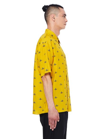 Johnundercover Shirt - Yellow Logo Printed