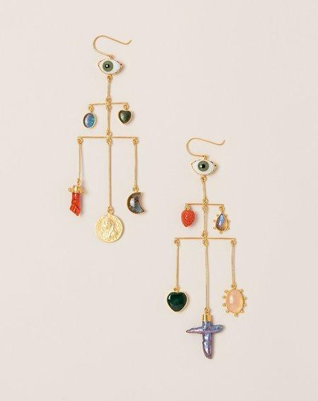 Grainne Morton Pyramid Drop Earrings