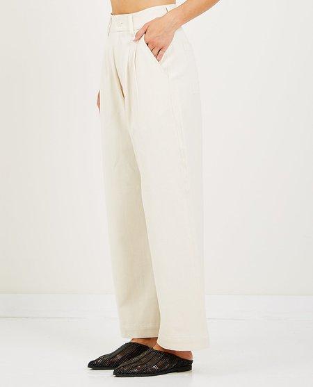 Mii Collection DENIM TROUSER - WHITE
