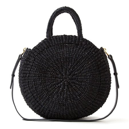 Clare V. Alice Shoulder Bag - Black Woven