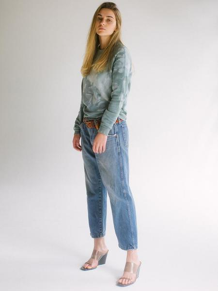 Unisex Audrey Louise Reynolds Organic Eco-Fleece Sweatshirt - In The Woods Now Green