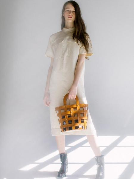 Building Block Woven Basket - Chestnut