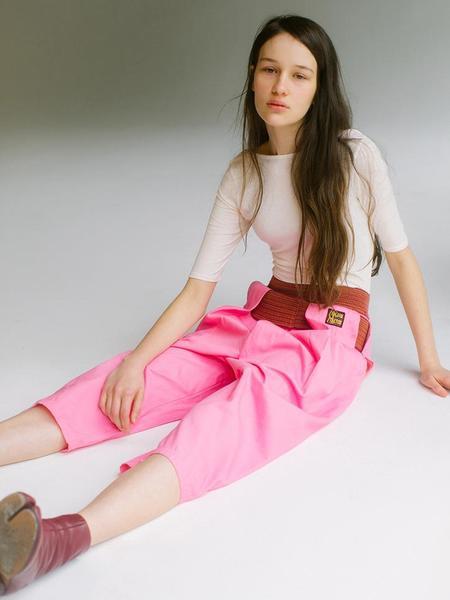 UNISEX Kapital Shimokita Wrap Pants - Pink