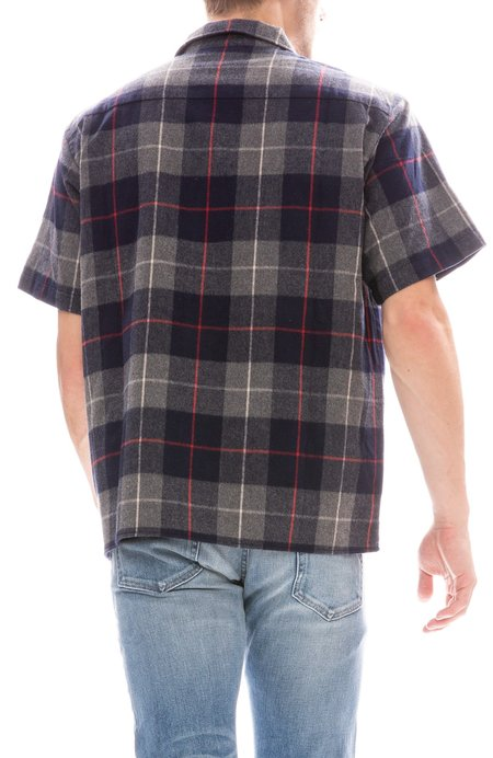 Freshjive Workers Flannel Shirt - Navy