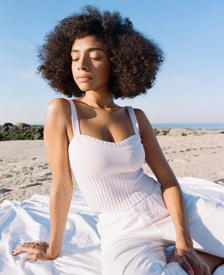 Deta Knitted Swimwear Tank - Soft Lilac