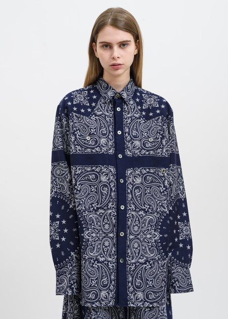Études Studio Nevada Bandana Shirt - Blue
