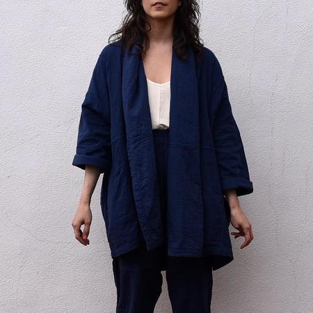 Atelier Delphine Haori Coat - MIDNIGHT NAVY