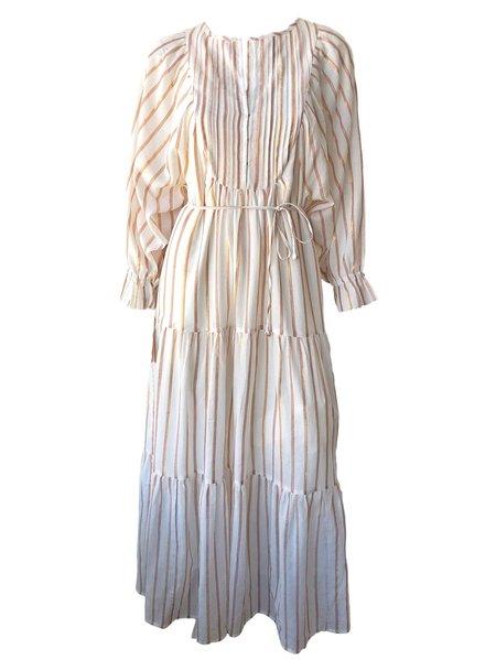 36563a8ad225b ... Apiece Apart Francesca Bib Tier Dress - Cream