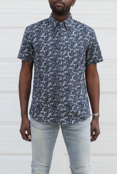 Grayers Printed Chambray SS Shirt - Navy Floral