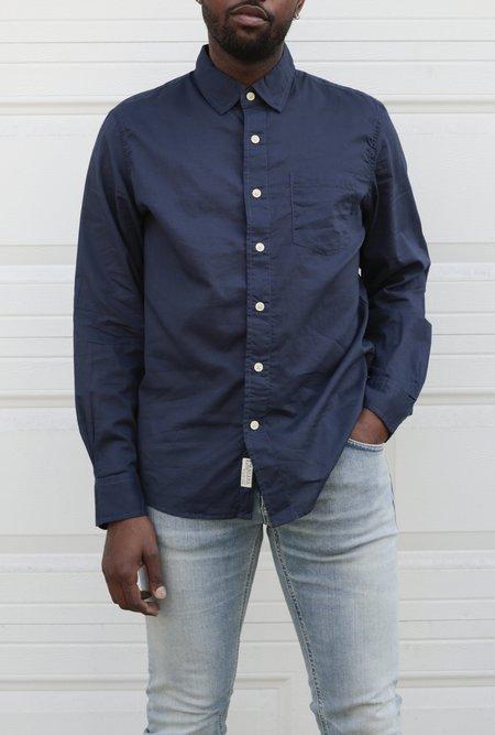 Grayers Portofino Featherweight Poplin Shirt - Navy