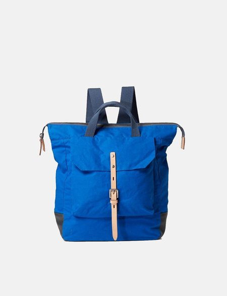 Ally Capellino Frances Waxy Small Backpack - Cobalt Blue