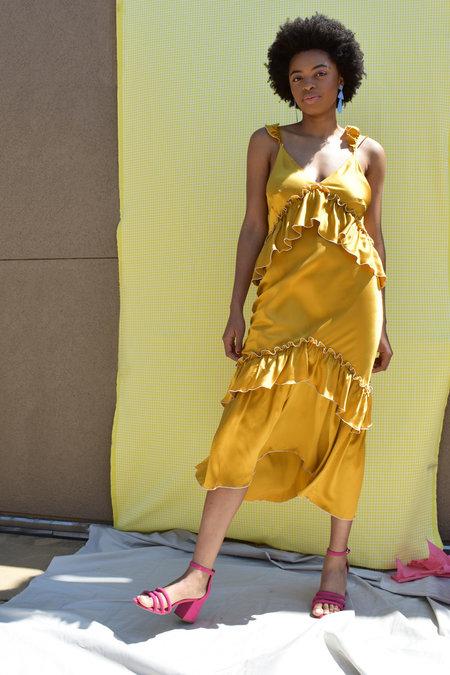 ARCANA Lilith Convertible Slip Dress - Paprika