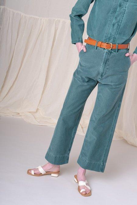 Caron Callahan JAPANESE TWILL GREENE PANT - GREEN