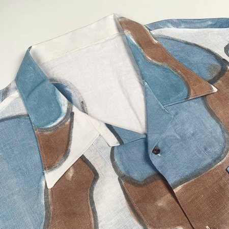 Tony Shirtmakers Abstract Shape Hand Painted Camp Shirt