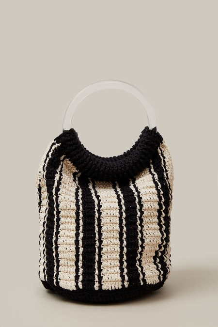 Rachel Comey Praia Bag Crochet - Black/White