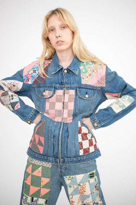 B Sides Lennon Jacket - Isaac Checkered/Antique Quilt Patchwork