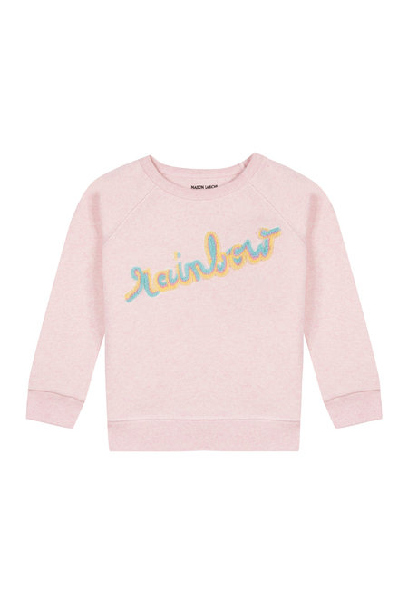 Kids Maison Labiche Patch Rainbow Sweatshirt - Pink