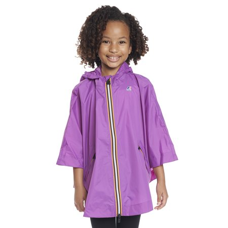 KIDS K-Way Le Vrai 3.0 Morgan Full Zip Poncho - Violet