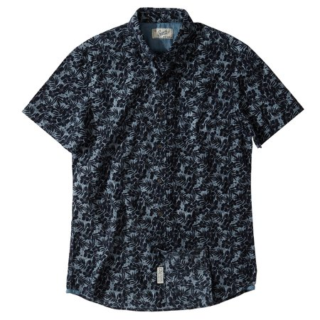 Grayers Floral Printed Chambray Shirt - Navy