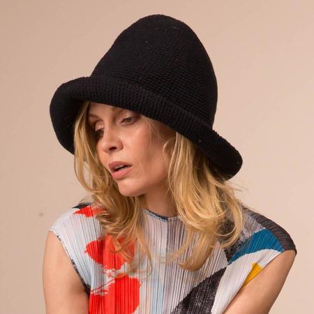 Lauren Manoogian Crochet Bell Hat - Black