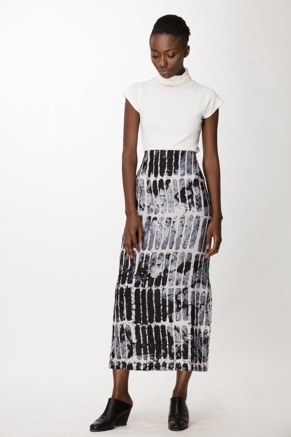 Osei-Duro Column Skirt in Black Chalk