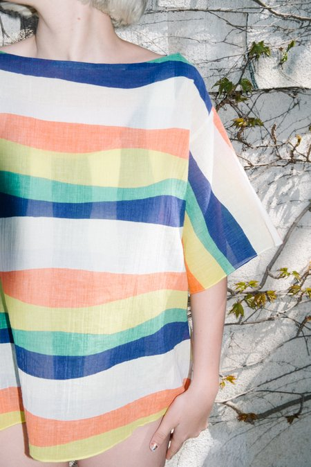WHiT Neil Tee - Wavy Stripes