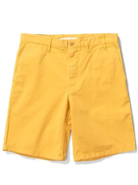 Norse Projects Aros Twill Shorts - Sunwashed Yellow