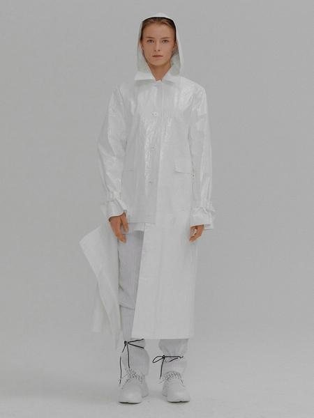 EENK Marina Adjustable Length Raincoat - white