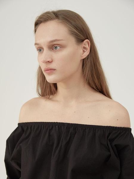 Hasto Colleague Off-shoulder Lounge Dress - Black